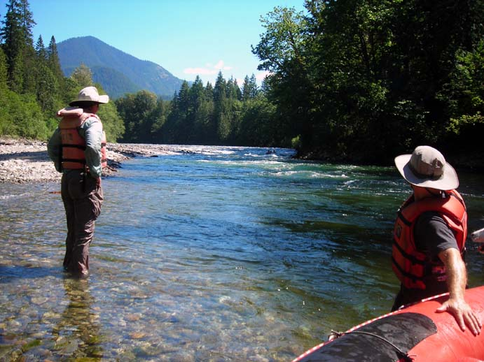 whitewater rafting Skykomish River Washington